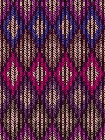 tejidos de punto: Tejido de lana jacquard perfecta textura de ornamento. Color de la tela de fondo de tracer�a