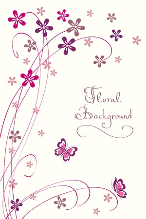 invitation card: Cute Floral Background. Modern Vector Card for different Events