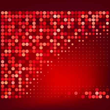 Abstract Red Halftone Dots Vector Background  Иллюстрация