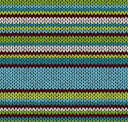 Style Seamless Color Knitted Pattern