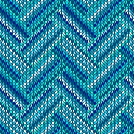 Style Seamless Blue White Color Knitted Pattern from my large Collection of Samples of knitted Fabrics  Stock Illustratie