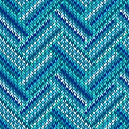 pullover: Stil Seamless Blue White Color Strickmuster aus meiner gro�en Sammlung von Proben von Maschenware Illustration
