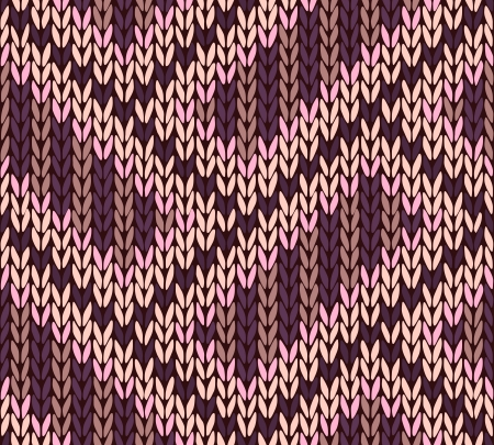 Knit woolen seamless jacquard ornament texture. Fabric color tracery background Stock Vector - 14603004