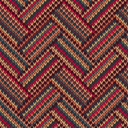 Knit woolen seamless jacquard ornament texture. Fabric color tracery background Banco de Imagens - 14603005