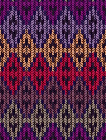 textura lana: Tejido jacquard de lana sin costuras textura ornamento. Color de la tela tracery fondo