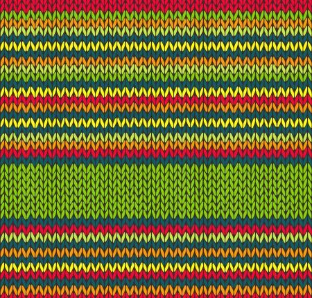 Style transparent vecteur vert rouge jaune tricoté Modèle Couleur