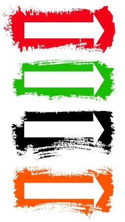 lineas rectas: Las flechas del Grunge Vector Set
