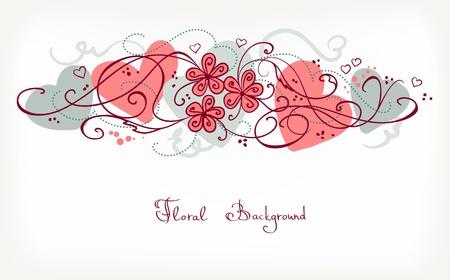 Nette Floral Background. Retro Vektor-Karte für verschiedene Veranstaltungen