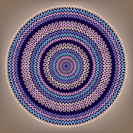 Style Circle Simple Color Needlework Background, Ornamental Round Knitted Pattern Vector
