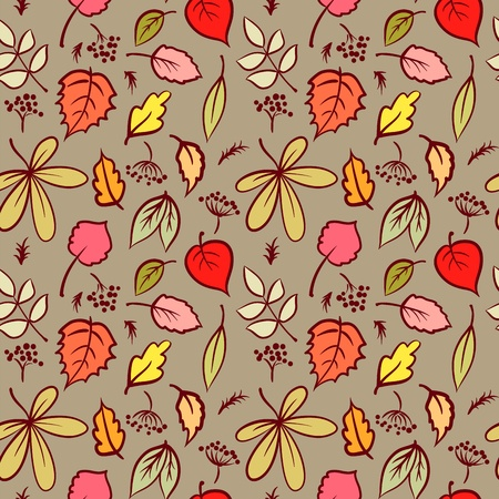Beautifu Seamless Pattern with Autumn Leaf, Abstract leaf Texture, Endless Background, Surface textures  Stock Vector - 15220062