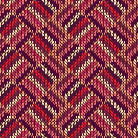 knitwear: Style Seamless Color Knitted Ornament Pattern