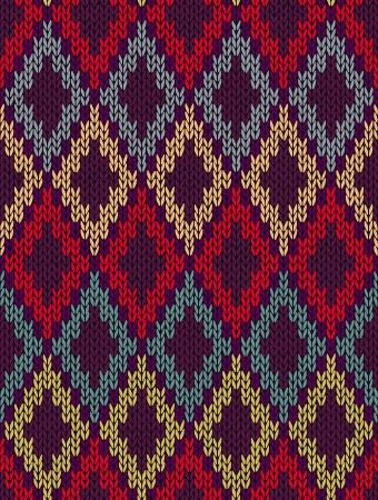 tejidos de punto: Tejido jacquard de lana sin costuras textura ornamento. Color de la tela tracery fondo
