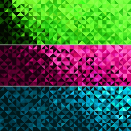 geometric patterns: Abstract Light Brilliant Fun Holiday Banner Pattern. Bright Sparkle Blue Pink Green Vector Background