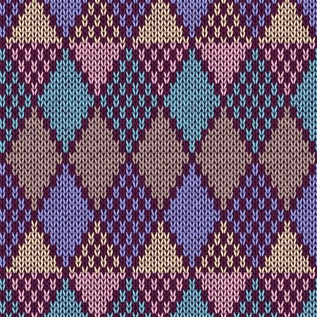 textura lana: Estilo sin costuras Pattern.Blue Ilustraci�n de color rosa amarilla de mi gran colecci�n de muestras de tejido de punto