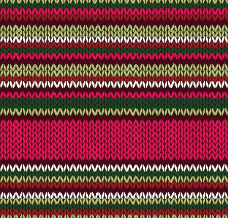 knitted background: Style Seamless Knitted Pattern. Red Pink Green White Color Illustration from my large Collection of Samples of knitted Fabrics