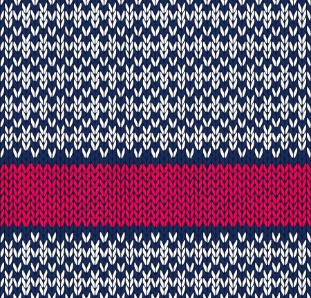 Stijl Naadloze Marine Blauw Wit Rood Kleur Gebreide