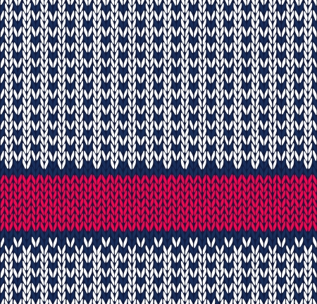 wool texture: Style Seamless Blue White Red Color Knitted Pattern