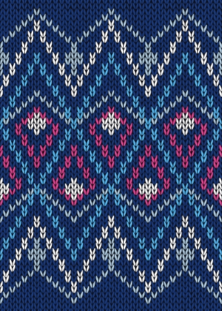 Seamless Ornamental Male Style Knitted Pattern