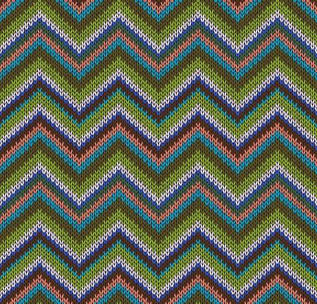 tejido de lana: Estilo Patr�n sin costuras. Verde Azul Marr�n Blanco Naranja Color Ilustraci�n de mi gran colecci�n de muestras de tejido de punto