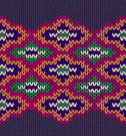 etnic: Knit Woolen Seamless Etnic Ornament Texture. Fabric Color Tracery Background
