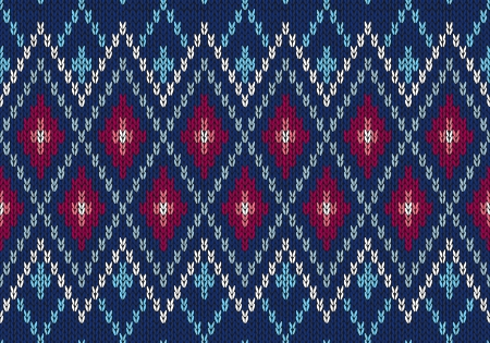 norwegian: Seamless Ornamental Male Style Knitted Vector Pattern  Illustration