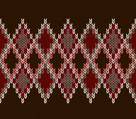 wool texture: Style Seamless White Pink Brown Red Color Knitted Pattern