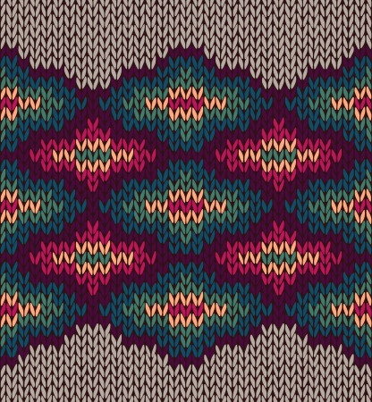 wool texture: Knit Woolen Seamless Etnic Ornament Texture. Fabric Color Tracery Background