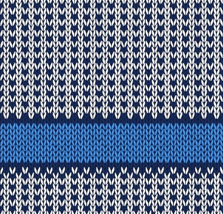 rekodzielo: Style Seamless Blue White Kolor dzianiny wzór wektor
