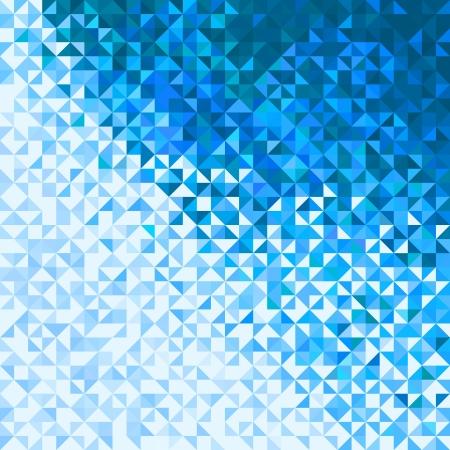 vibrant colors fun: Astratto Luci Blu Bianco Cielo Invernale o neve sfondo. Mosaico vettore Pixel