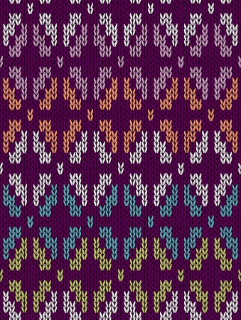 wool texture: Style Seamless Knitted Pattern. White Blue Green Orange Pink Violet Color Illustration from my large Collection of Samples of knitted Fabrics  Illustration
