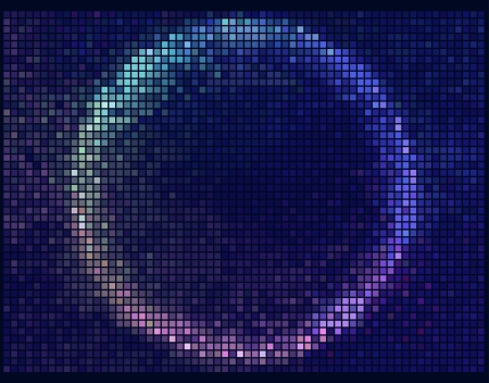 pixelated: Colorful Round Square Pixel Mosaic Vector Banner.Multicolor Abstract Beautiful Lights Disco Club Background  Illustration