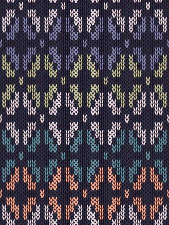 tejidos de punto: Estilo Patr�n sin costuras. Blanco Azul Verde Naranja Turquesa Color Ilustraci�n de mi gran colecci�n de muestras de tejido de punto Vectores