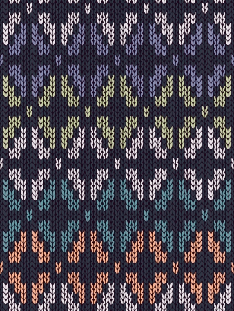 Style Seamless Knitted Pattern. White Blue Green Orange Turquoise Color Illustration from my large Collection of Samples of knitted Fabrics