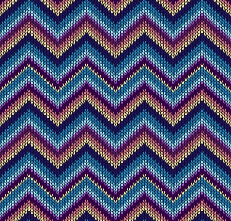 wool texture: Style Seamless Knitted Pattern. Blue Pink Yellow Orange Color Illustration from my large Collection of Samples of knitted Fabrics Illustration