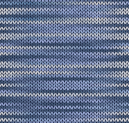 Style Seamless Knitted Pattern. Blue Silver White Color Illustration from my large Collection of Samples of knitted Fabrics Vector