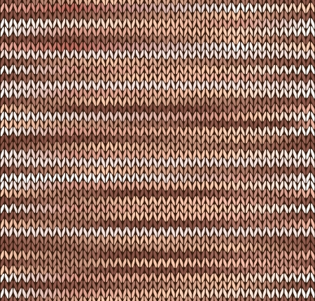 tricot: Style Seamless Knitted Pattern. Brown Pink White Color Illustration from my large Collection of Samples of knitted Fabrics