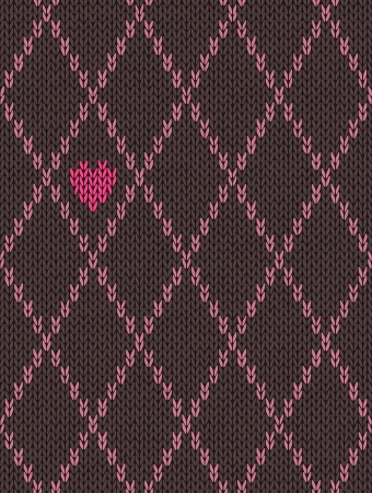 wool texture: Style Seamless Pink Brown Color Knitted Pattern