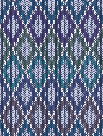 Seamless Light Background of Color Wolle gestrickt Gingham Squares