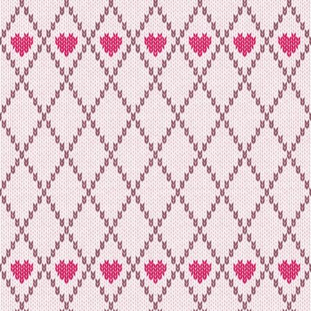 sueter: Estilo Seamless Pink Brown Color Blanco Patrón de punto