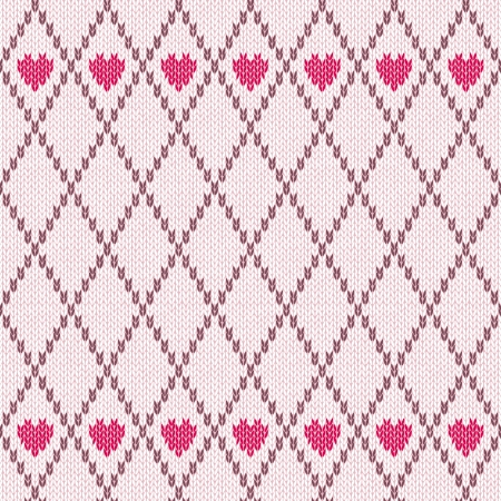 wool texture: Style Seamless Pink Brown White Color Knitted Pattern
