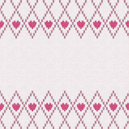 Style Seamless Pink Brown White Color Knitted Pattern Stock Vector - 17477814