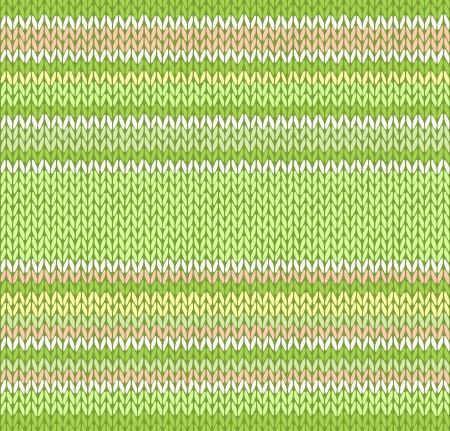 yellow fleece: Style Seamless Orange Green Yellow White Color Light Vector Knitted Pattern