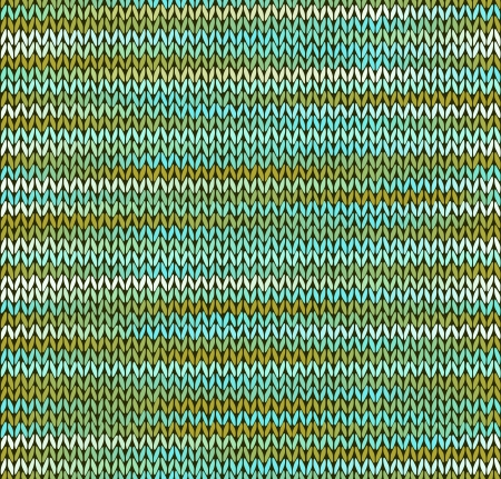 tricot: Style Seamless Knitted Pattern  Blue Green White Color Illustration from my large Collection of Samples of knitted Fabrics