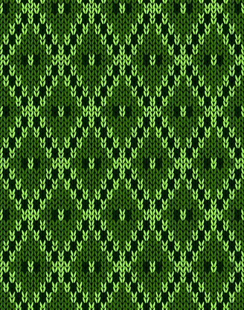 woolen: Knit woolen seamless jacquard ornament texture  Fabric Dark Green color tracery background