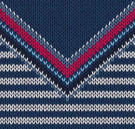 knitwear: Fashion Abstract Background, Drawing Handsome Striped Neck Sweater, Seamless Pattern