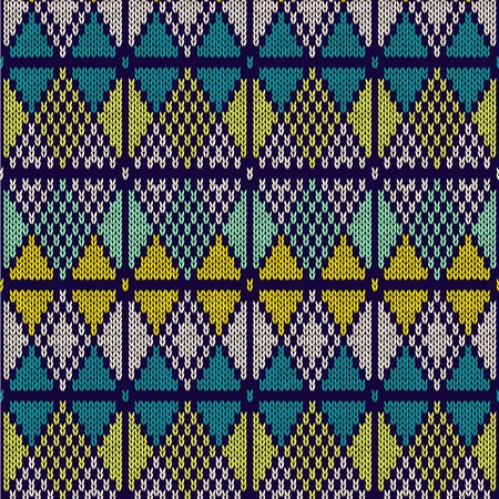 repeat texture: Style Seamless Knitted Pattern Blue White Yellow Color Illustration from my large Collection of Samples of knitted Fabrics
