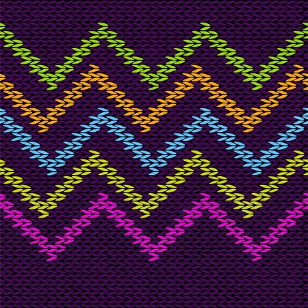 knitted fabrics: Style Seamless Knitted Pattern Illustration