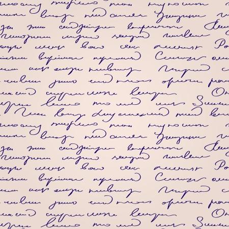vellum: Modello senza soluzione di continuit? astratta testo scritto a mano  Vettoriali
