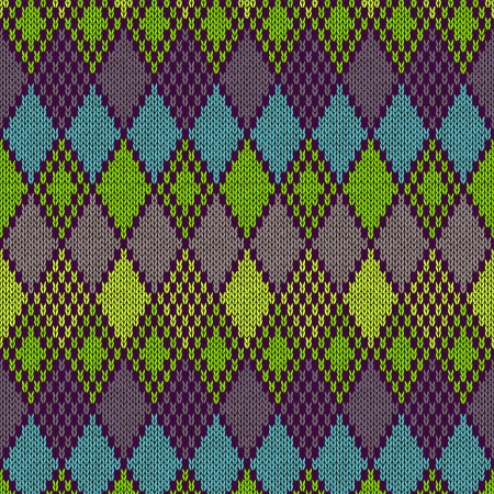 Ethnic Style Seamless Knitted Pattern Vector