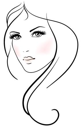 long hair woman: Hermosa mujer joven con pelo largo y rubio